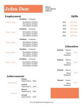 Emailing resume word format